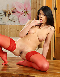 Wet And Puffy Set Ravishing in Red